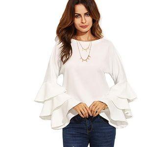 Beautiful women ruffle blouse